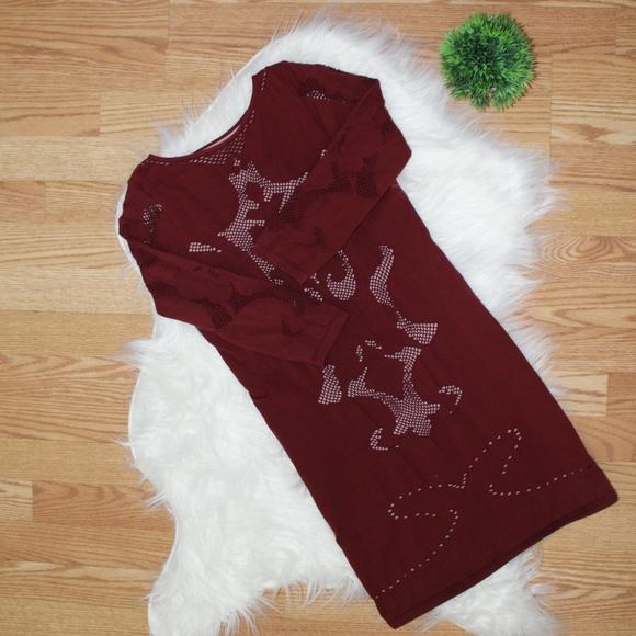 Intimately Free People Burgundy Bodycon Dress M/L